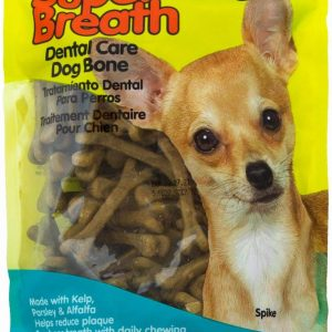 Fido Super Breath Dental Care Bones for Dogs, Made with Kelp, Parsley and Chlorophyll - Naturally Freshens Breath, Reduces Plaque and Whitens Teeth